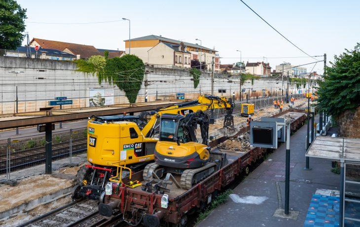 Travaux d'été Gare de Mantes Station