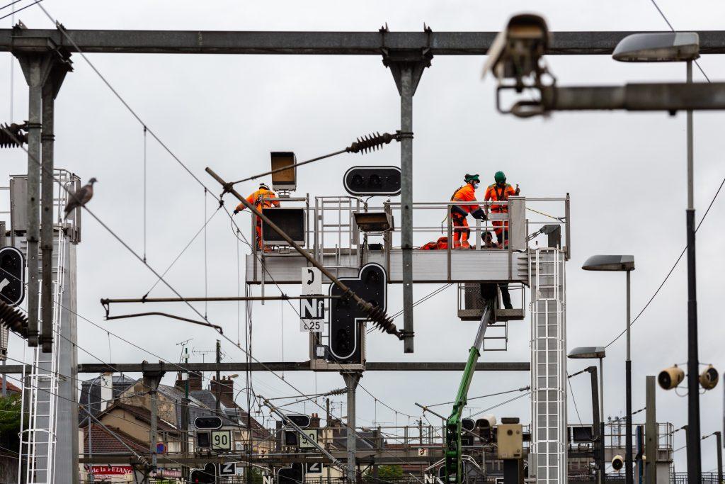 modernisation des signalisations en après gare